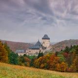 Autumn scenery with Karlstejn Castle Stock Photos