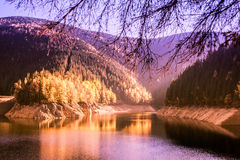 Autumn scenery on the lake Royalty Free Stock Photo