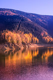 Autumn scenery on the lake Stock Images