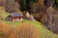 Autumn scenery in the mountains of Romania Stock Image