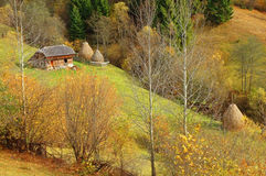 Autumn scenery in the mountains of Romania Stock Photos