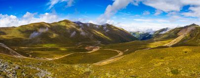 Qinghai Tibet Plateau. The autumn scenery of the Qinghai Tibet Plateau Stock Photos