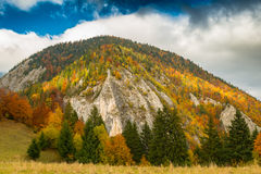 Autumn scenery in remote mountain area in Transylvania royalty free stock photography