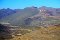 The autumn scenery on the road to Qinghai Tibet Plateau Stock Photography