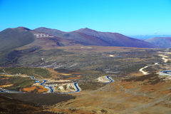 The autumn scenery on the road to Qinghai Tibet Plateau Royalty Free Stock Photography