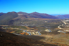 The autumn scenery on the road to Qinghai Tibet Plateau Stock Images