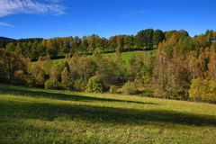 Autumn scenery in the Sumava Mountains, Javorna, Czech Republic Royalty Free Stock Photography