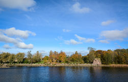 Autumn scenery in Vyborg, Russia Royalty Free Stock Images