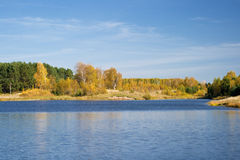 An Autumn scenic at Bower Ponds royalty free stock photo