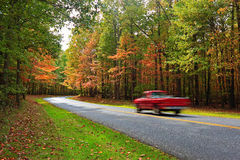 Autumn Scenic Drive. In Public Parks Royalty Free Stock Photos