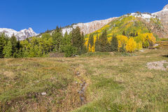 Autumn Scenic Landscape in the Rockies Royalty Free Stock Photo