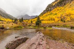 Autumn Scenic at Maroon Bells Royalty Free Stock Photography