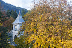 Autumn scenic of old church. Stock Image