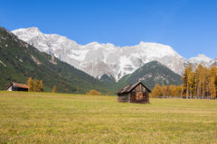 Autumn scenic view from Mieming Plateau (Austria, Tyrol) Royalty Free Stock Photo