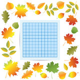 Autumn School Border lizenzfreies stockbild