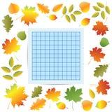 Autumn School Border Royalty Free Stock Image