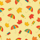 Autumn school seamless Royalty Free Stock Photos