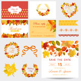 Autumn Scrapbook Design Elements Image libre de droits
