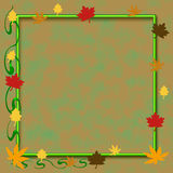 Autumn scrapbook frame vector illustration