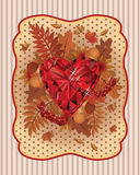 Autumn scrapping card in vintage style Royalty Free Stock Photography
