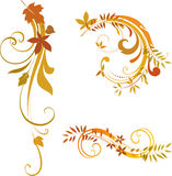 Autumn scrolls Royalty Free Stock Photography