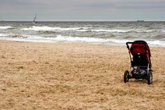 In autumn the sea. Polish Baltic coast in autumn, Gdansk, Poland Stock Photos