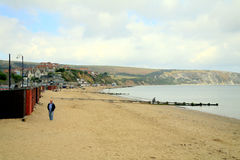 Autumn seafront, Swanage, Dorset. Stock Images