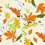 Autumn seamless background. Universal template for greeting card, web page, background Stock Images