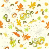 Autumn seamless background Royalty Free Stock Images