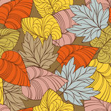 Autumn seamless background. Abstract colorful lovely autumn vector seamless background Stock Photos