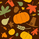Autumn seamless background. Stock Photo