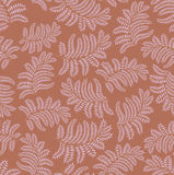 Autumn seamless background. Leaves seamless pattern on brown background Royalty Free Stock Images
