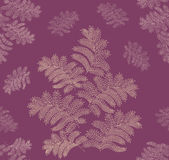 Autumn seamless background. Leaves seamless pattern on purple background Royalty Free Stock Photos