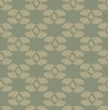 Autumn seamless background. Leaves seamless pattern on olive background Stock Photography