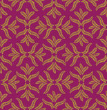 Autumn seamless background. Leaves seamless pattern on violet background Royalty Free Stock Photo