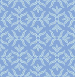 Autumn seamless background. Leaves seamless pattern on blue background Stock Photo
