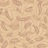Autumn seamless background. Leaves seamless pattern on yellow background Royalty Free Stock Images