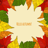 Autumn seamless background Stock Images