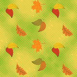 Autumn seamless background with halftone Stock Photography