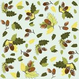 Autumn seamless background. Illustration  acorns. Royalty Free Stock Photography