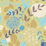 Autumn seamless background with leaves and flowers. A wonderful way to create background fabric, wallpaper, wrapping paper Stock Images