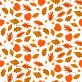 Autumn seamless background with leaves Stock Photo