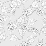 Autumn seamless background. Vector wallpaper for wrapping paper or fabric royalty free illustration