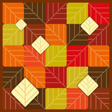 Autumn seamless with colourfull pattern Royalty Free Stock Photography