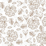 Autumn seamless leaf pattern Royalty Free Stock Photography