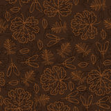 Autumn seamless leaf pattern Stock Image
