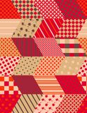 Autumn seamless patchwork pattern with zigzags. Quilting design Royalty Free Stock Images