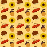 Autumn Seamless Pattern. A colorful Thanksgiving or autumn seamless background, useful also as design element for texture, pattern or giftwrap. Eps file Royalty Free Stock Photos
