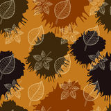 Autumn seamless pattern:abstract leaf Royalty Free Stock Image