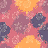 Autumn seamless pattern:abstract leaf Stock Photo